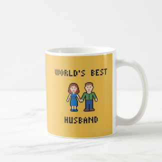 Pixel World's Best Husband Mug