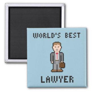 Pixel World's Best Lawyer Magnet