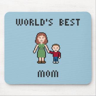 Pixel World's Best Mom Mousepad