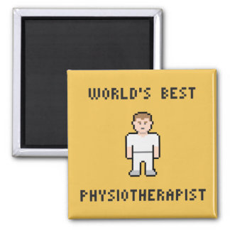 Pixel World's Best Physiotherapist Magnet