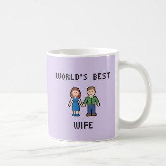 Pixel World's Best Wife Mug