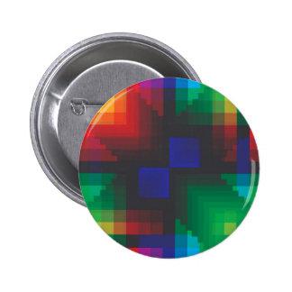Pixelated Abstract of Coachella Love 6 Cm Round Badge