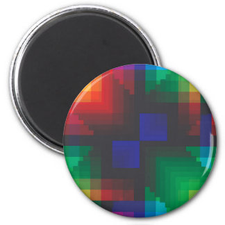 Pixelated Abstract of Coachella Love 6 Cm Round Magnet