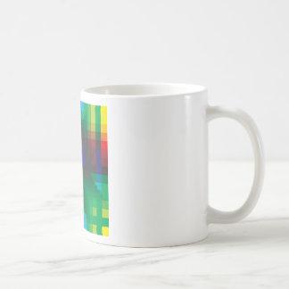 Pixelated Abstract of Coachella Love Basic White Mug