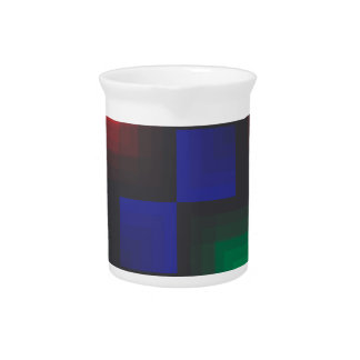 Pixelated Abstract of Coachella Love Beverage Pitcher