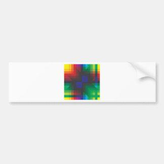 Pixelated Abstract of Coachella Love Bumper Sticker