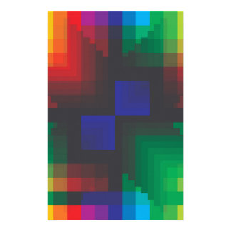 Pixelated Abstract of Coachella Love Custom Stationery
