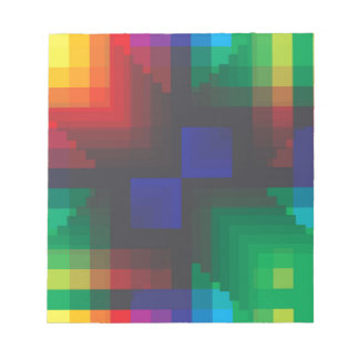 Pixelated Abstract of Coachella Love Memo Note Pad