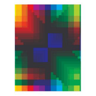 Pixelated Abstract of Coachella Love Postcard