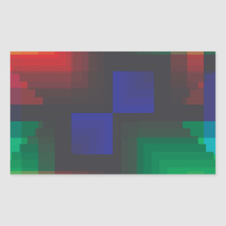 Pixelated Abstract of Coachella Love Rectangular Sticker