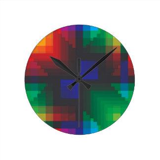 Pixelated Abstract of Coachella Love Wall Clocks