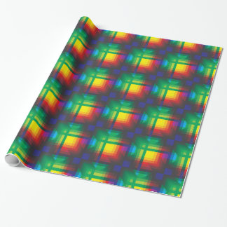 Pixelated Abstract of Coachella Love Wrapping Paper