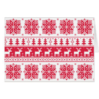 Pixelated Christmas pattern, card