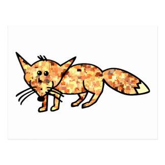 Pixelated Fox Postcard