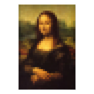Pixelated Mona Lisa 2 Art Photo