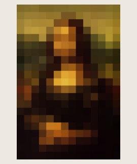 Pixelated Mona Lisa 3 Tee Shirt