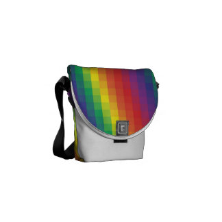 Pixelated Rainbow - Mini Messenger Bag