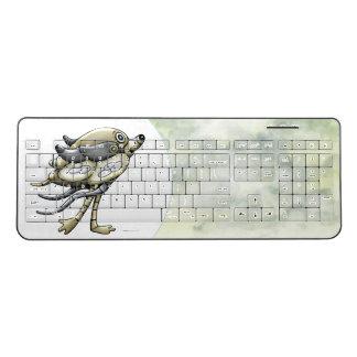 PIXELLE  CUTE ROBOT Custom Wireless Keyboard