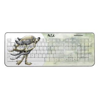 PIXELLE  CUTE ROBOT Custom Wireless Keyboard 2