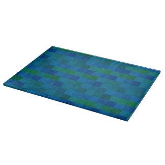 Pixels blue cutting board
