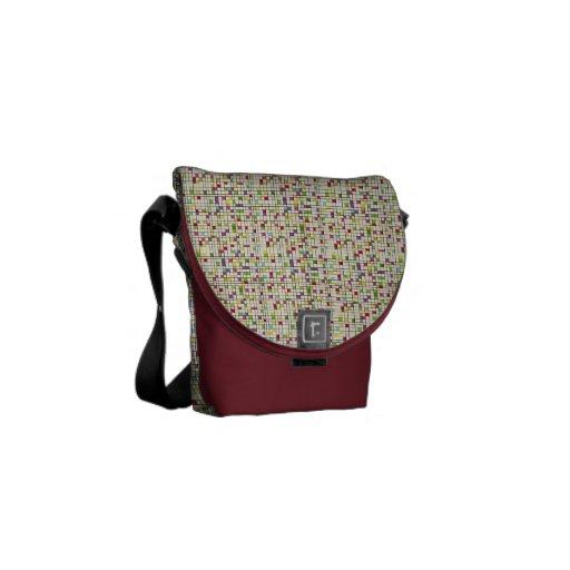Pixels Disorder Courier Bag