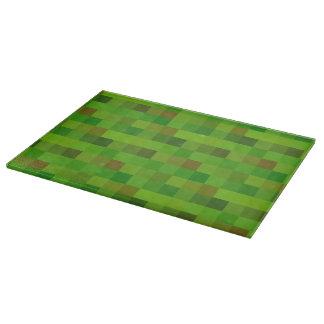 Pixels green cutting board