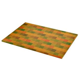 Pixels orange cutting board