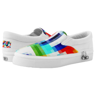 Pixels primary care colors slip on sneakers