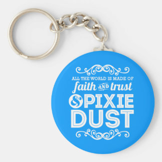 Pixie Dust Basic Round Button Key Ring