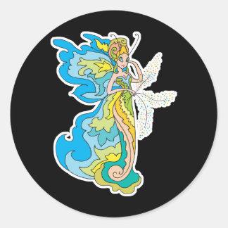 pixie fairy princess round sticker