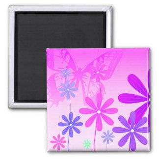 Pixie Flower Butterflies 2 Magnet