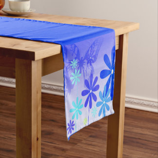 Pixie Flower Butterflies 3 Short Table Runner
