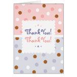 Pixie Polka Dots Twin Thank You Notecard