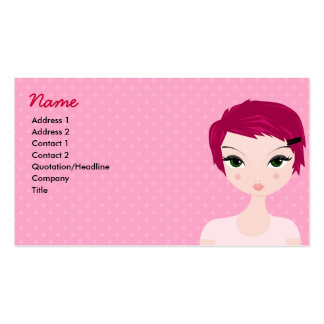 Pixie Profile Card Double-Sided Standard Business Cards (Pack Of 100)