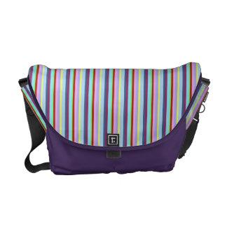 Pixie Striped Pattern Rickshaw Messenger Bag