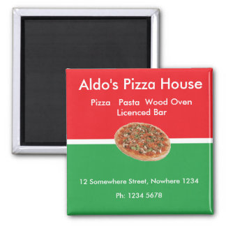 pizza1 square magnet