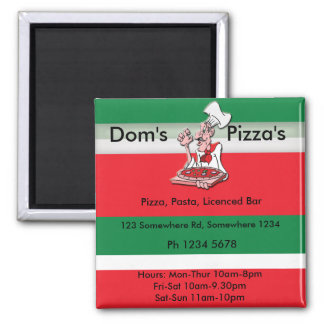 pizza4 square magnet