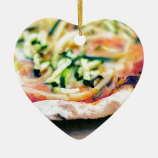 Pizza-12 Ceramic Heart Decoration