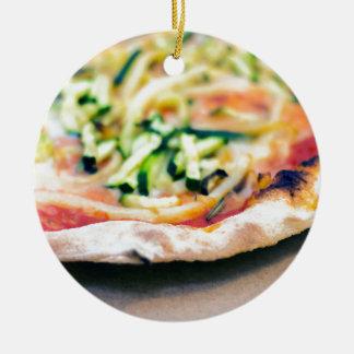 Pizza-12 Round Ceramic Decoration