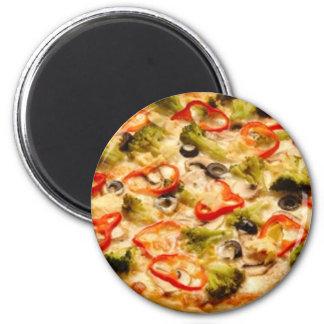 Pizza 6 Cm Round Magnet