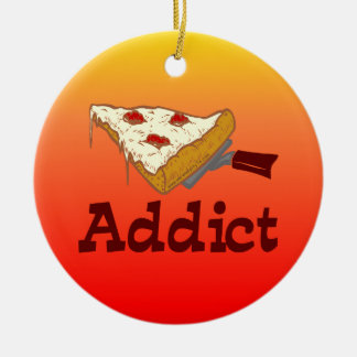Pizza Addict Christmas Ornament
