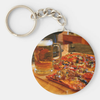 Pizza And Beer Key Ring