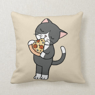 Pizza and Cat Pillow Cat Lover House Warming gift