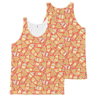Pizza And Drinks Pattern All-Over Print Tank Top