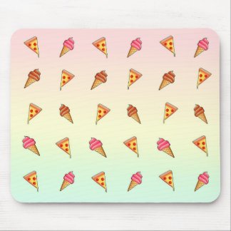 Pizza and Ice Cream Mouse Pad