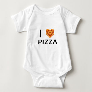Pizza and love baby bodysuit