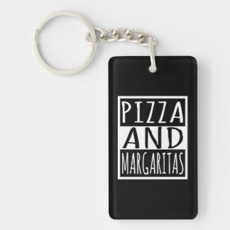 Pizza And Margaritas Key Ring