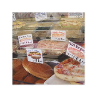 Pizza and panini picture stretched canvas prints