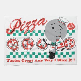 Pizza Any Way I Slice It Retro Kitchen Towel