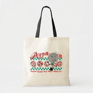 Pizza Any Way I Slice It Retro Tote Canvas Bag